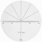 Reticle for microscope 2008-75, angle inch