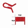 Box of 100 holding clips XLIP, red plastic