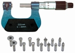 Universal micrometer with interchangeable inserts 0~25 mm