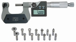 Universal micrometer D with interchangeable inserts 0~25 mm