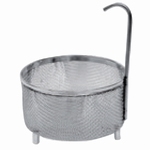 Inset sieve basket KD 0, fits into beakers, stainless steel