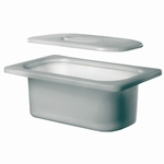 Insert tub KW 3, polyethylene, non-perforated, with lid