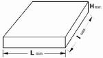 Reference bloc steel 54.3 HR45N, DAkkS, 60x60x16 mm