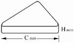 Reference bloc steel 33.5 HR45T, DAkkS, 60x60x16 mm