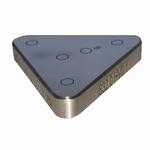 Reference bloc steel 450 µ-HV0.1, DAkkS, 35x35x35x6 mm