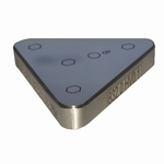 Reference bloc steel 400 µ-HV0.05, ISO, 35x35x35x6 mm
