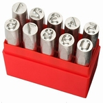 Set of 10 punches Dotstress, characters 0~9, h=8.0 mm