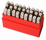 Set of 26 punches Dotstress, characters A~Z, h=6.0 mm