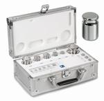 Set eco weight F1, inox, aluminium case, 1 mg~5 kg