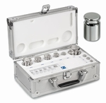 Set eco weight F1, inox, aluminium case, 1 g~50 g