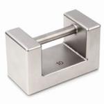 Block weight F1, polished inox, 5kg ±25mg, 145x68x96 mm