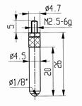 Contact point 573/17H - M2.5-6g/26/4.7/ball Ø1/8