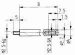 Extension M2.5-6g/15/5/ext. V5x15