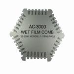 Hexagonal wetfilm comb, 36 pos, 25~3000 µm