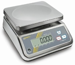 Stainless steel scale FFN, IP65, 1.5kg/0.2g, 230x190 mm