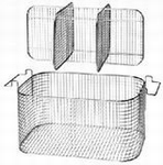 Insert basket with handles, stainless steel, K 28 CA