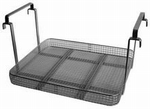 Reinforced insert basket with handles, stainless steel K50CS