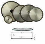 1 diamant cut-off wheels for plastics, Ø250x32x1,7x2 mm