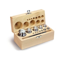 Set of weights inox/wood