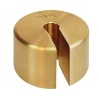 Brass slotted weight